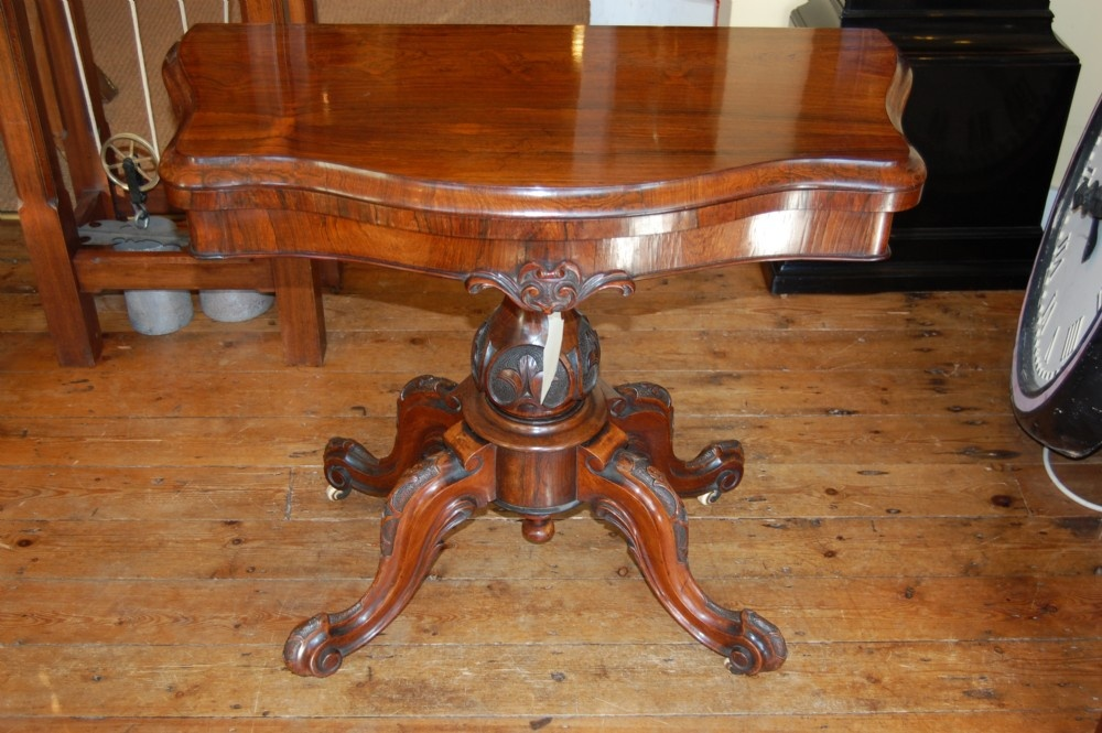 superb rosewood card table