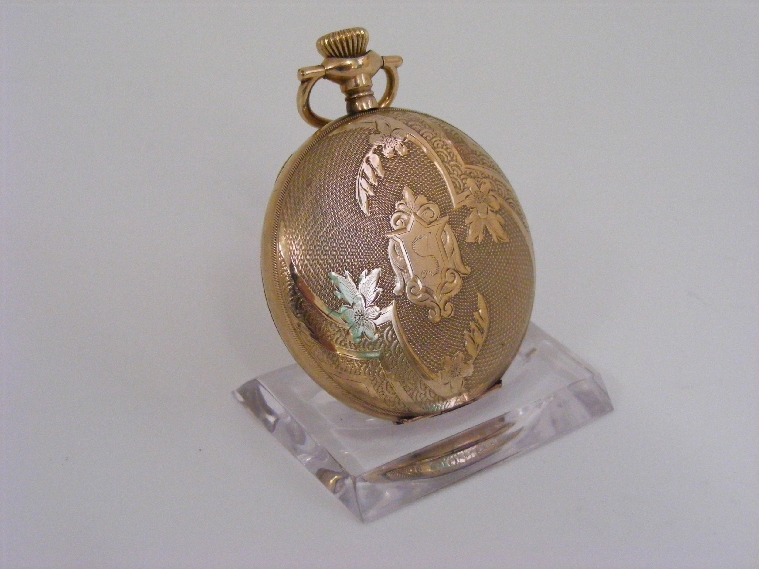 waltham gold filled hunting case pocket watch size 12s serviced warranted