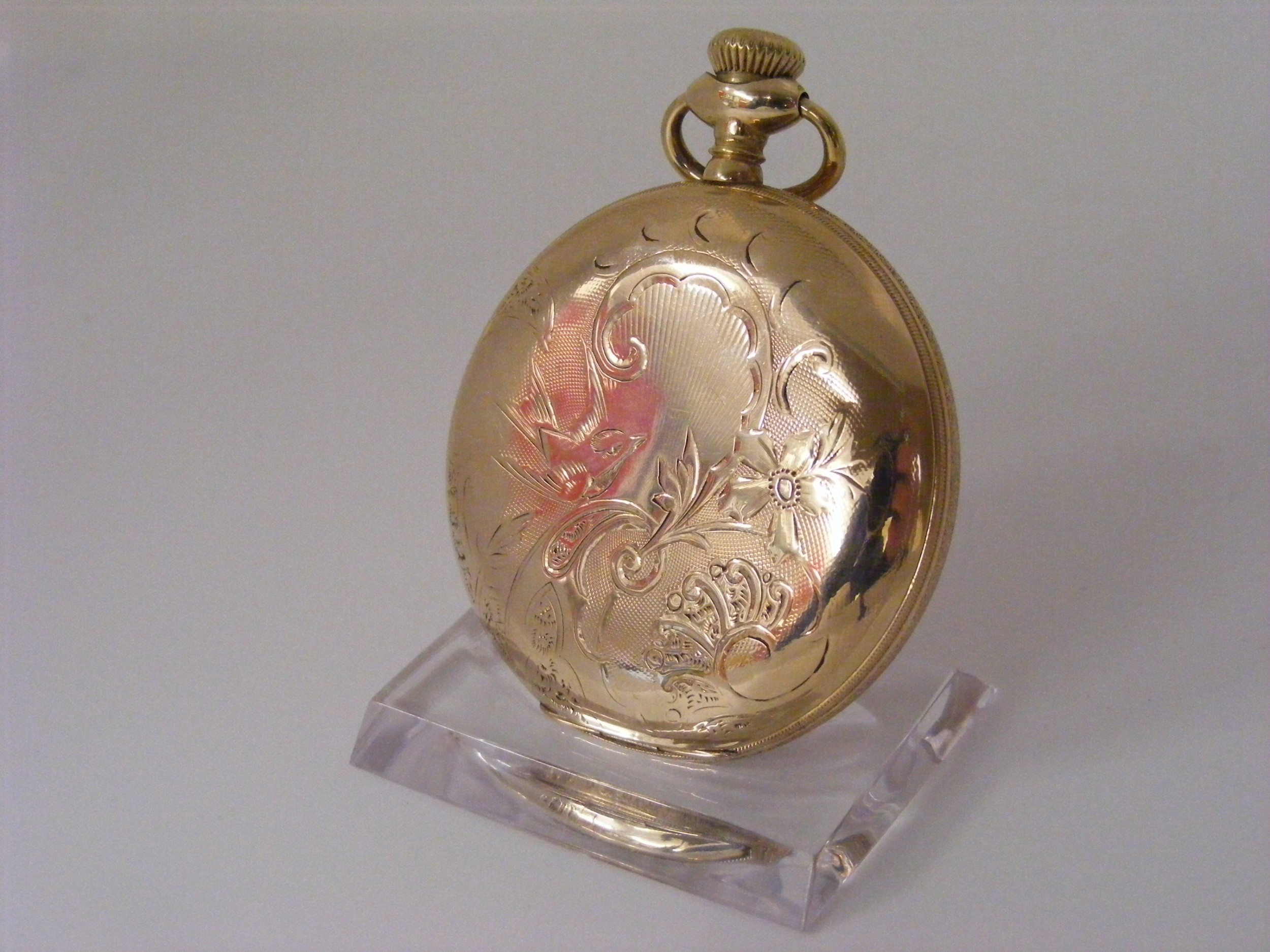 hamilton hunting case 17 jewel pocket watch immaculate serviced warranted