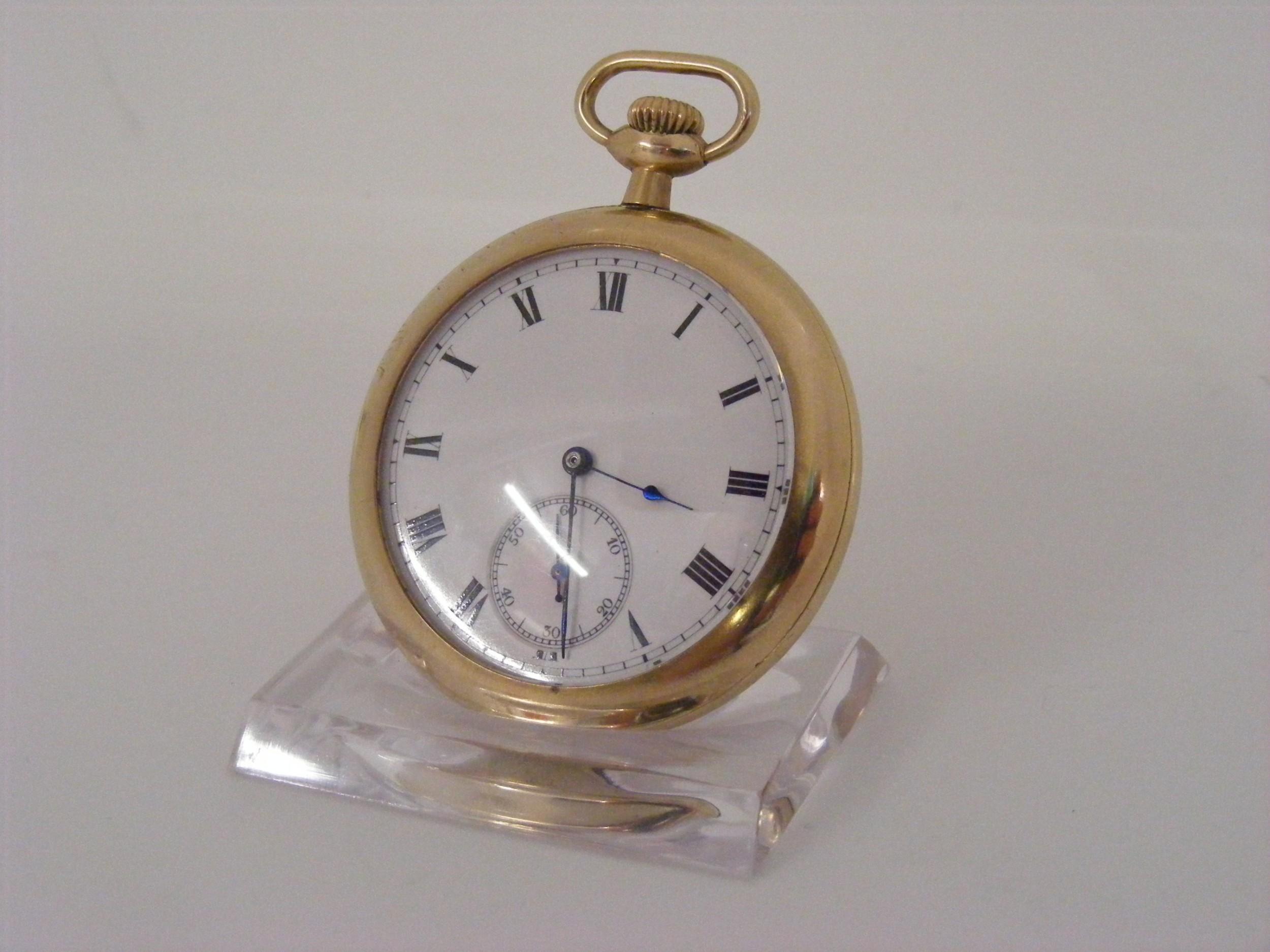 waltham bond st pocket watch