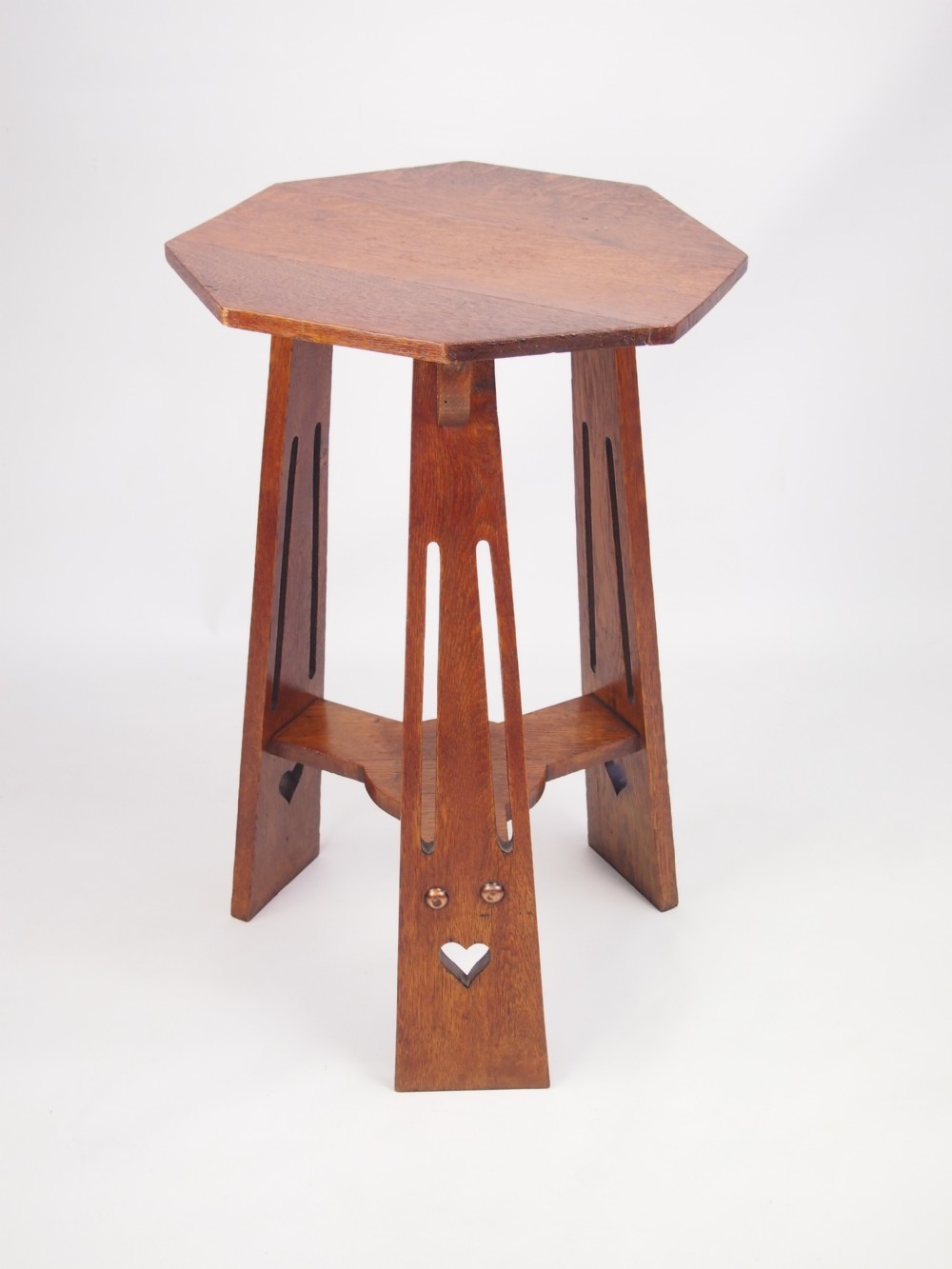 Antique Edwardian Arts And Crafts Oak Lamp Table 266469