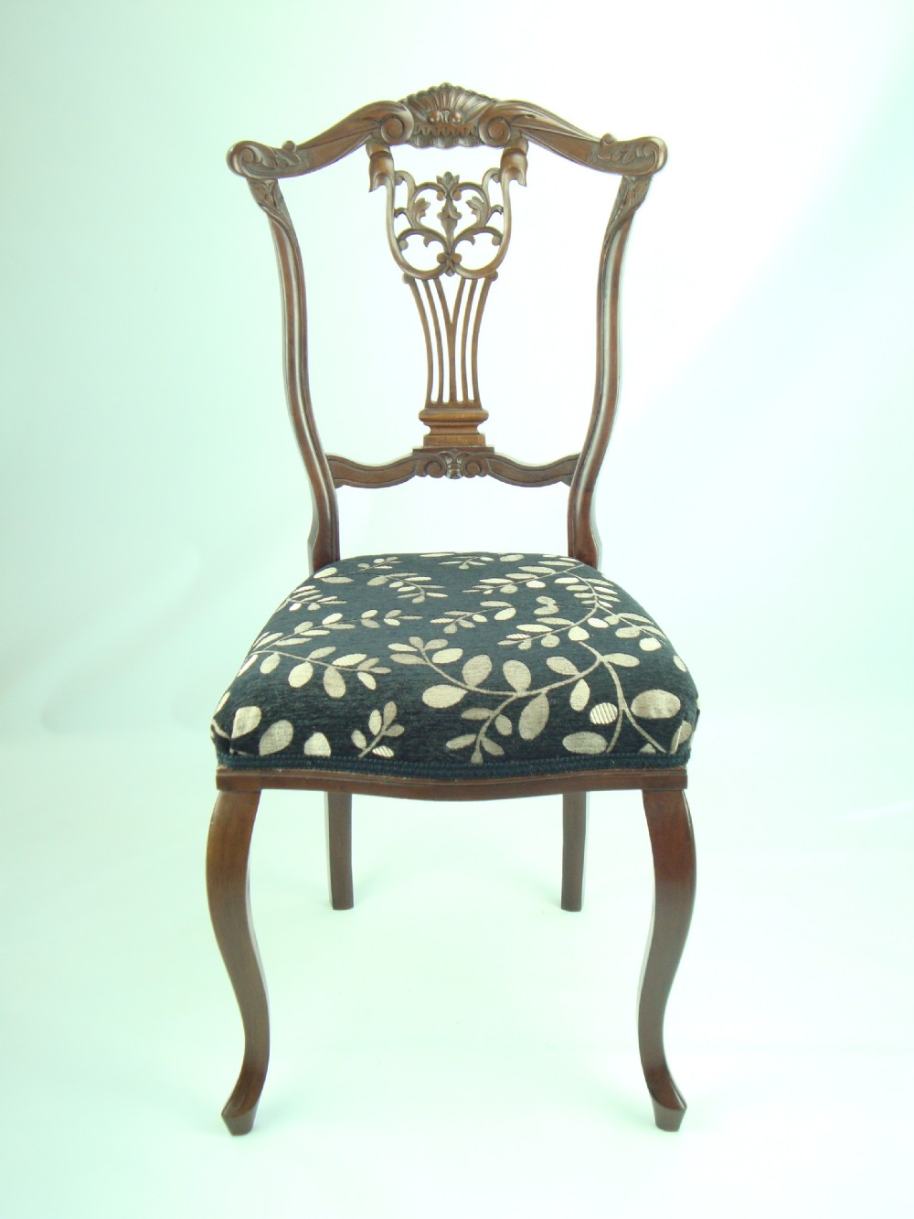 Antique edwardian carved bedroom chair