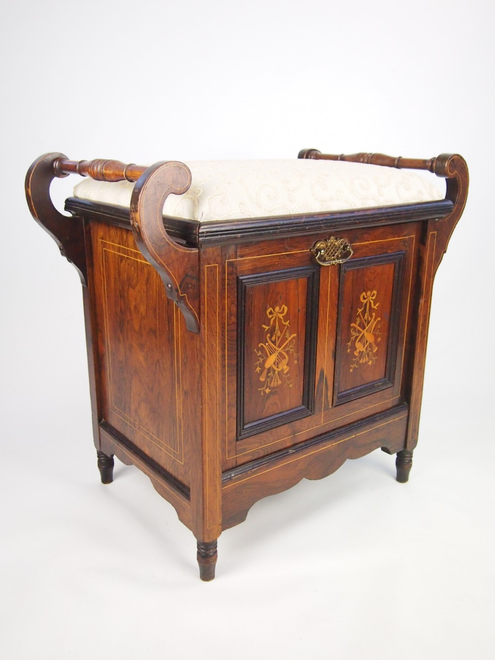 Antique Edwardian Piano Bench Cabinet Pictures To Pin On Pinterest