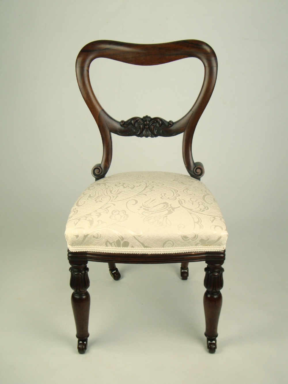 Antique victorian balloon back rosewood chair dressing