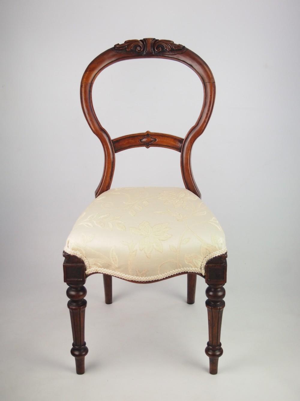 Antique Victorian Mahogany Balloon Back Chair 257225