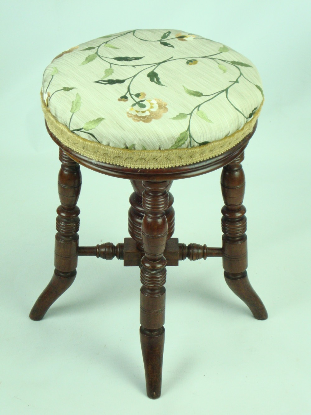 Antique Victorian Piano Stool By J Fitter 247263