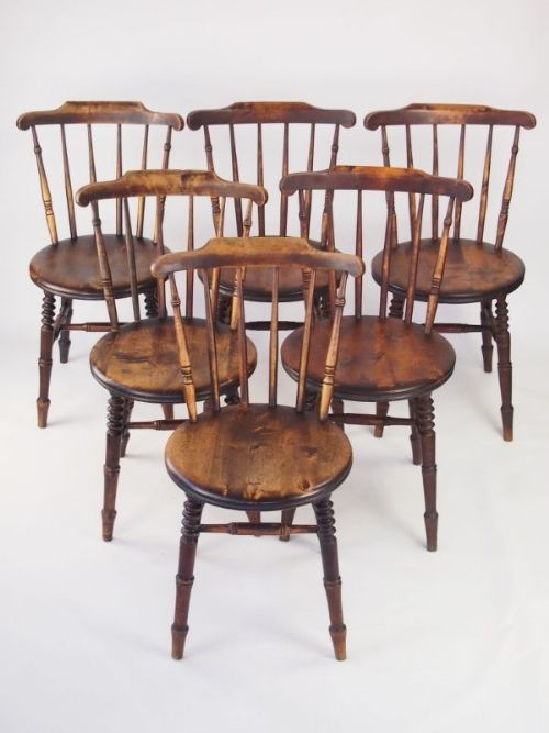 Harlequin Set 6 Pine Kitchen Chairs Six Ibex Dining Chairs
