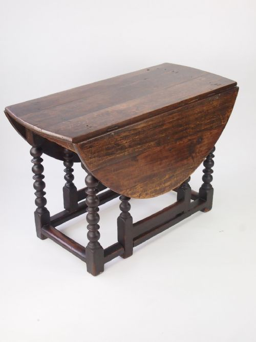 18th Century Oak Gate Leg Dining Table Drop Leaf Kitchen
