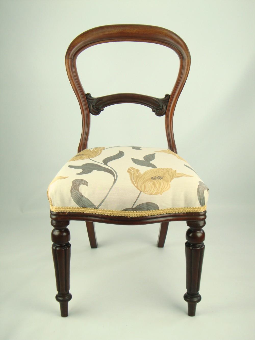 Antique Victorian Balloon Back Chair 234494