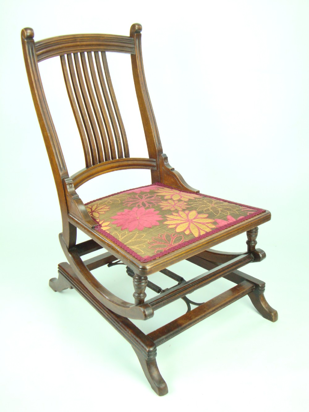 Antique Edwardian Rocking Chair By Angus Co London