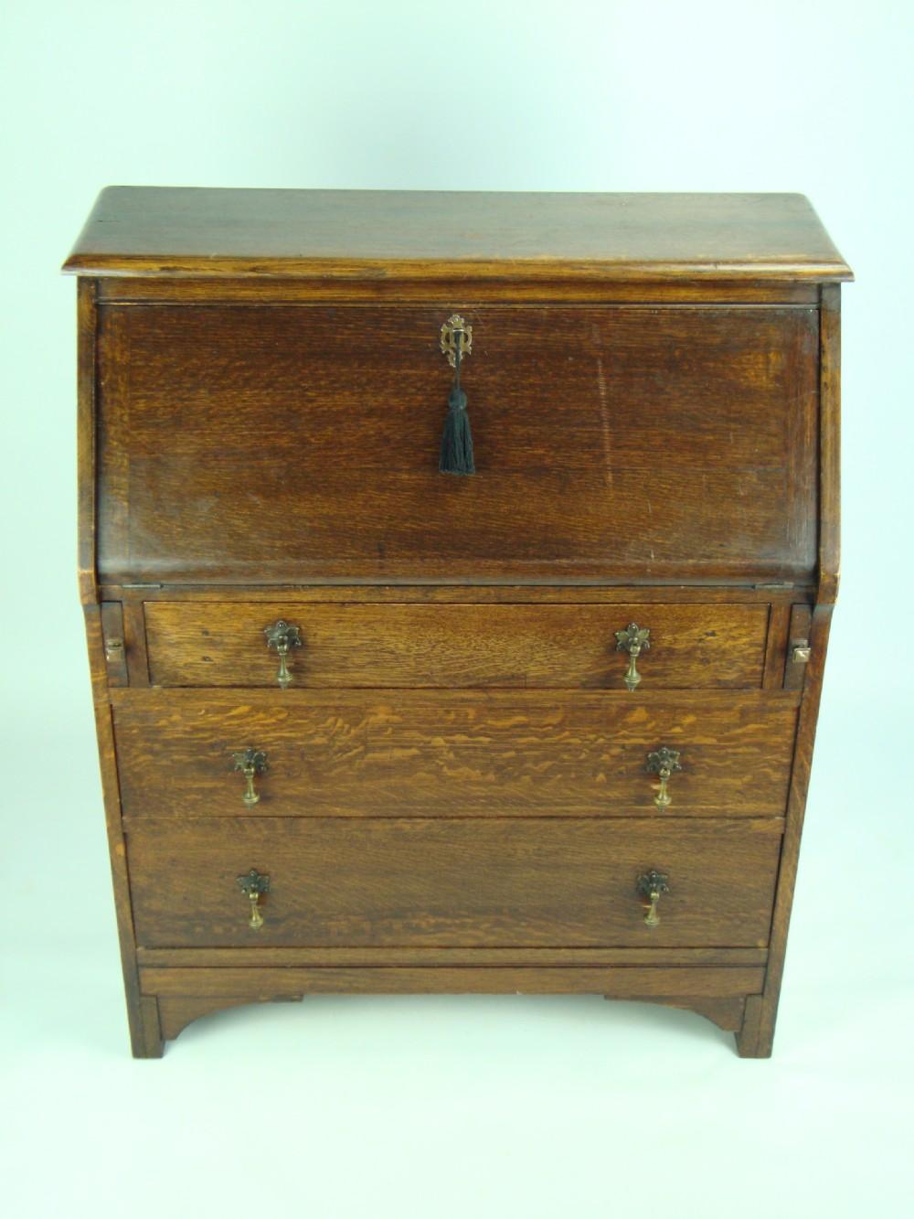 small vintage oak hall bureau 249809. Black Bedroom Furniture Sets. Home Design Ideas