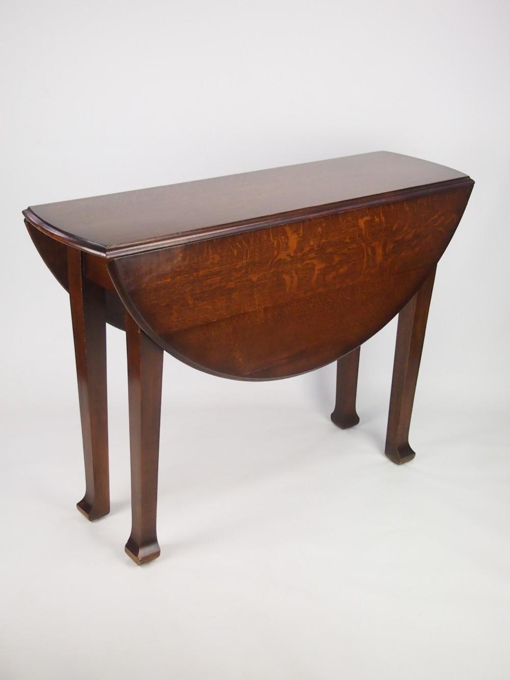 Antique Edwardian Oak Gate Leg Dining Table 254932