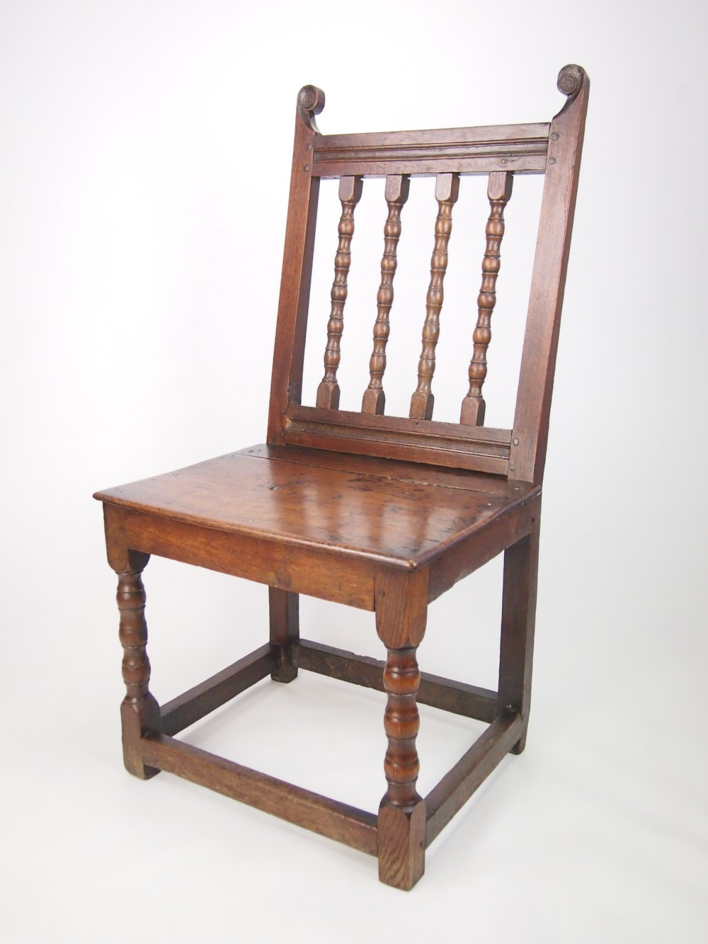 late 17th century spindle back oak side chair - Late 17th Century Spindle Back Oak Side Chair 259274