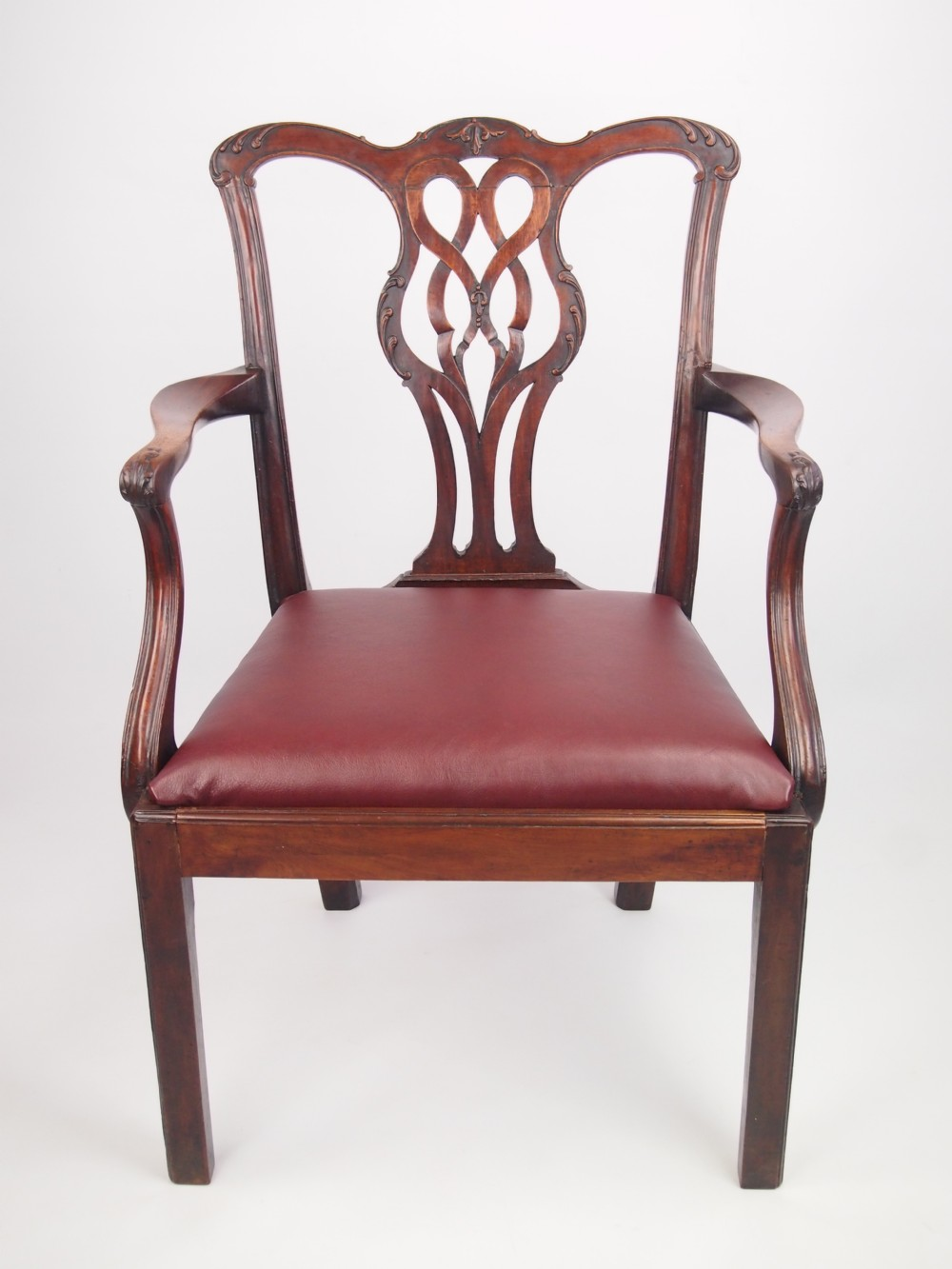 large antique george iii mahogany desk chair 263998