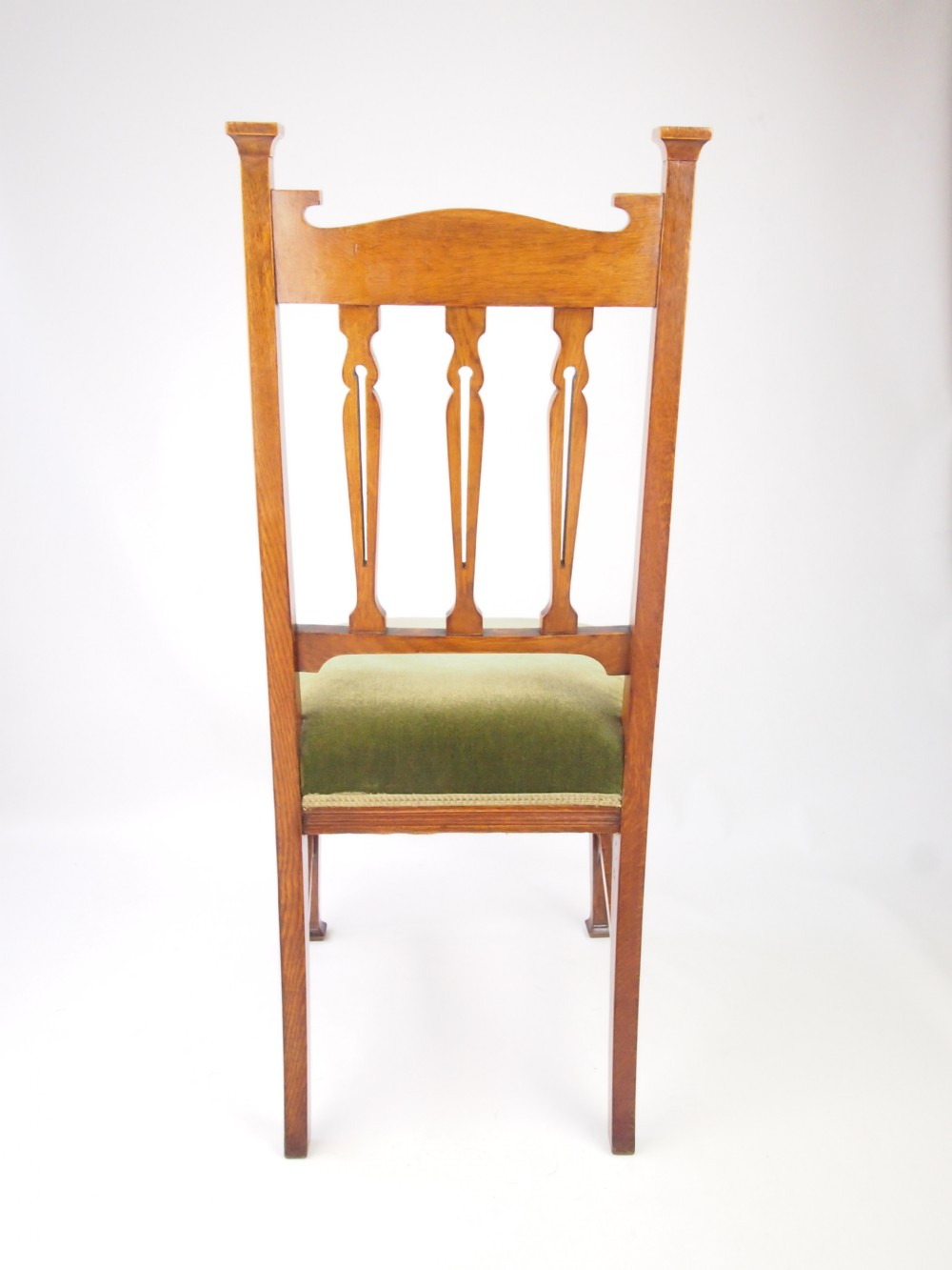 Antique Set 4 Golden Oak Dining Chairs