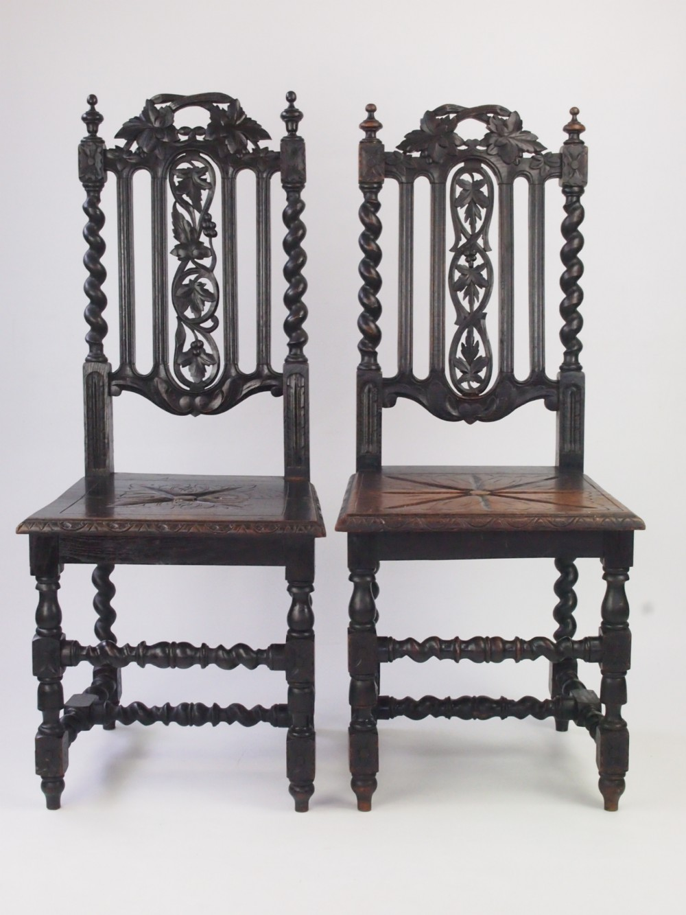 Near pair antique victorian gothic revival chairs 296526 for Victorian gothic chair