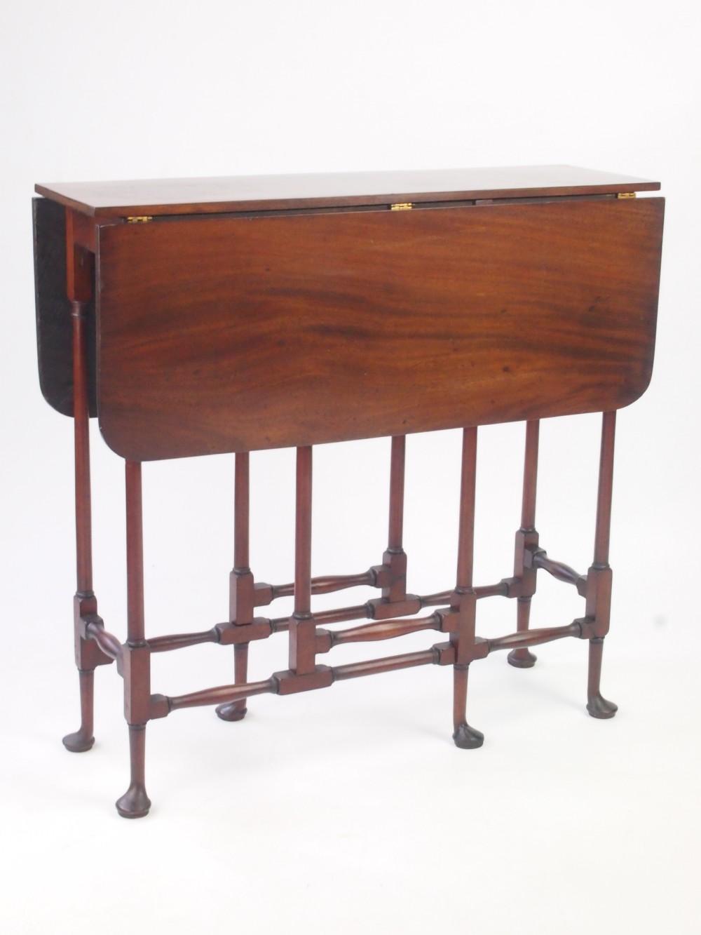 Small Antique Georgian Spider Leg Table Mahogany Gate Leg Sutherland Coffee  Table