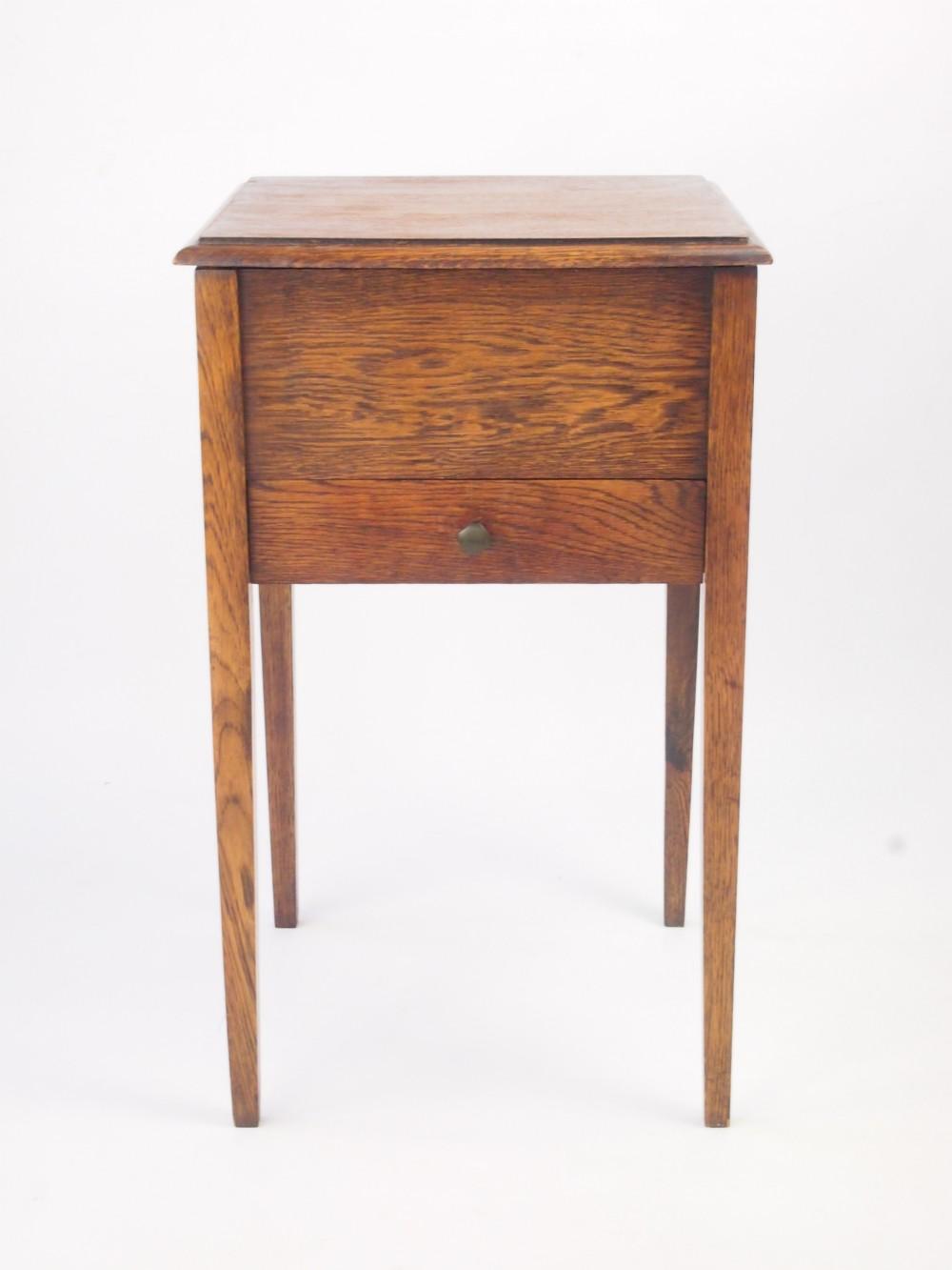 vintage oak sewing box bedside table 296684. Black Bedroom Furniture Sets. Home Design Ideas