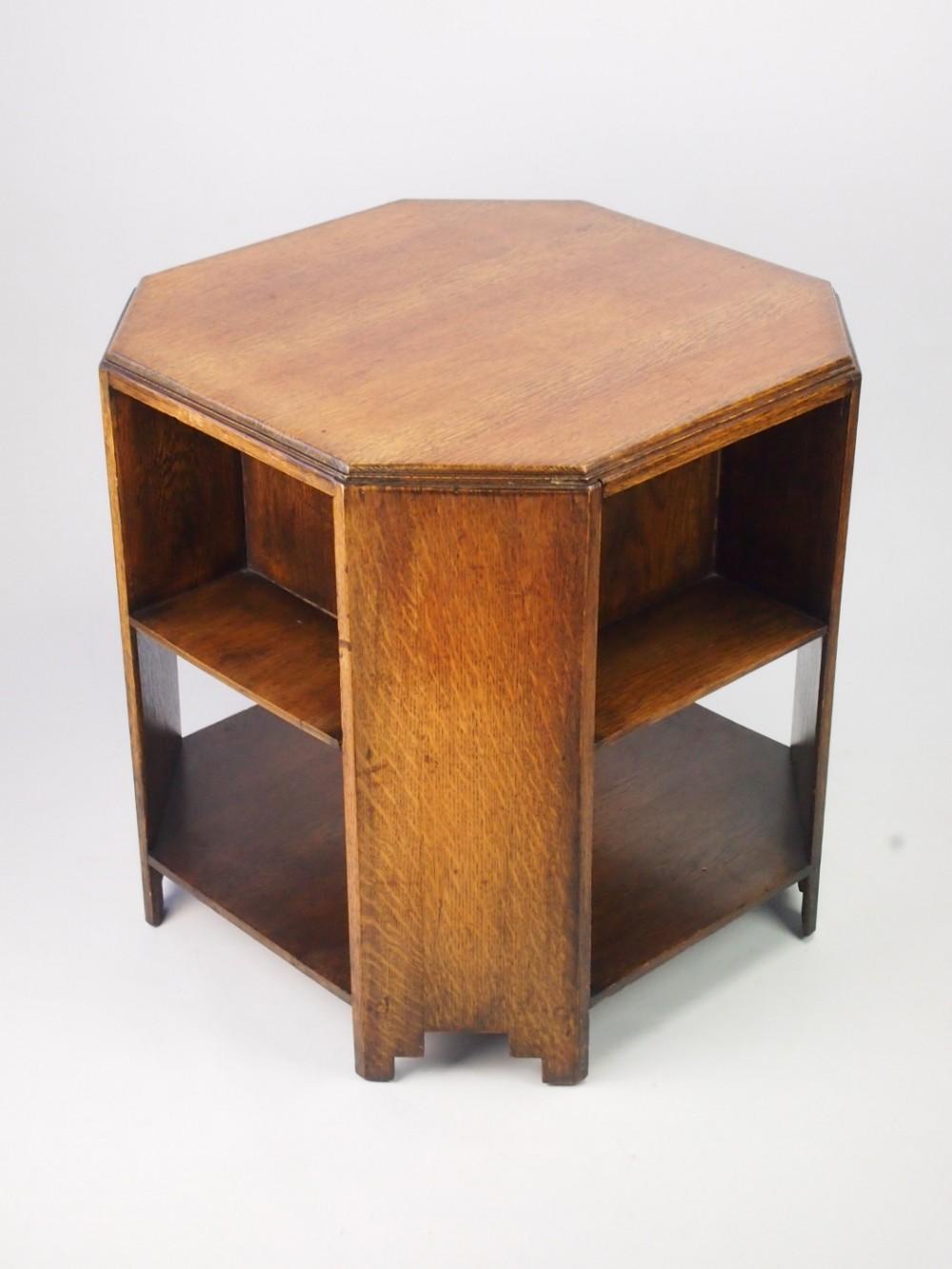 Art deco oak book table coffee table 312396 sellingantiques art deco oak book table coffee table geotapseo Choice Image