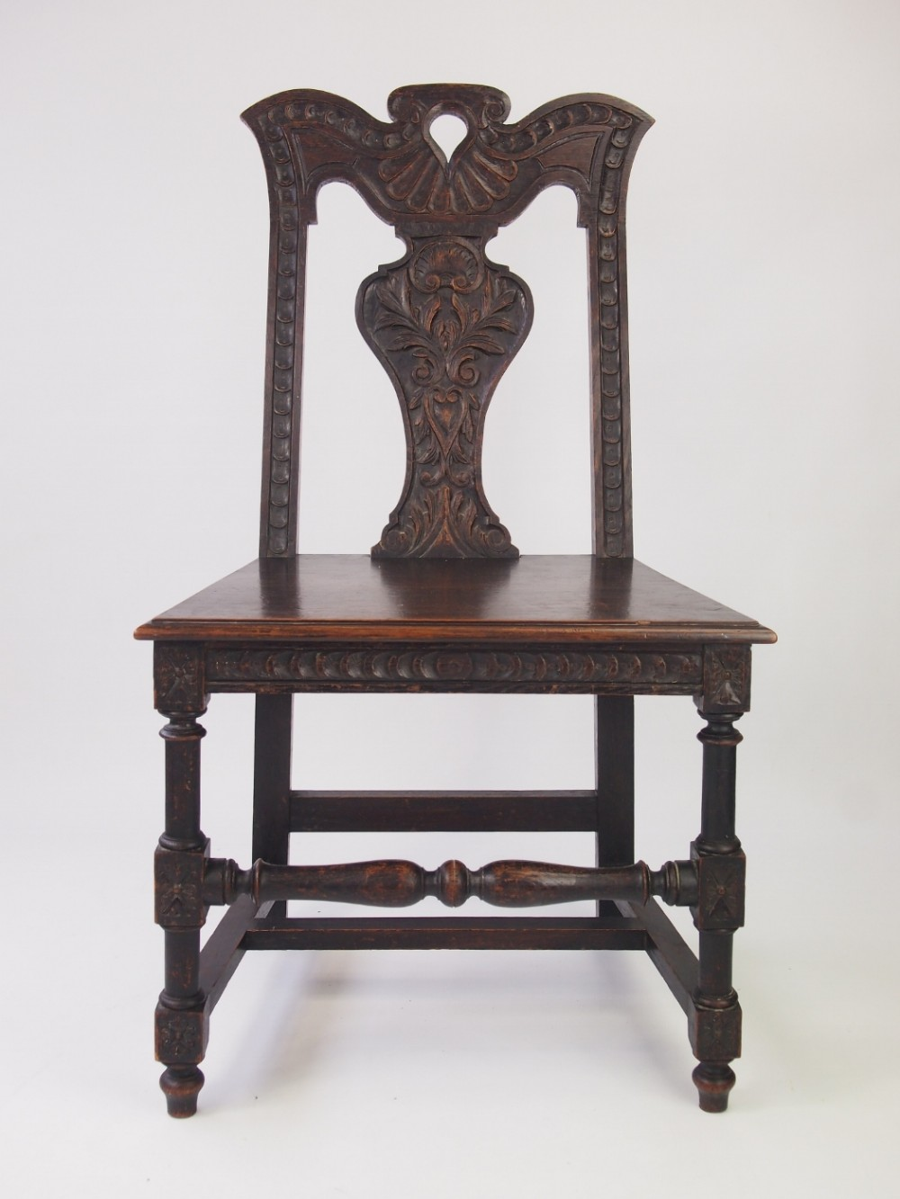 Victorian gothic revival oak hall chair 331322 for Victorian gothic chair