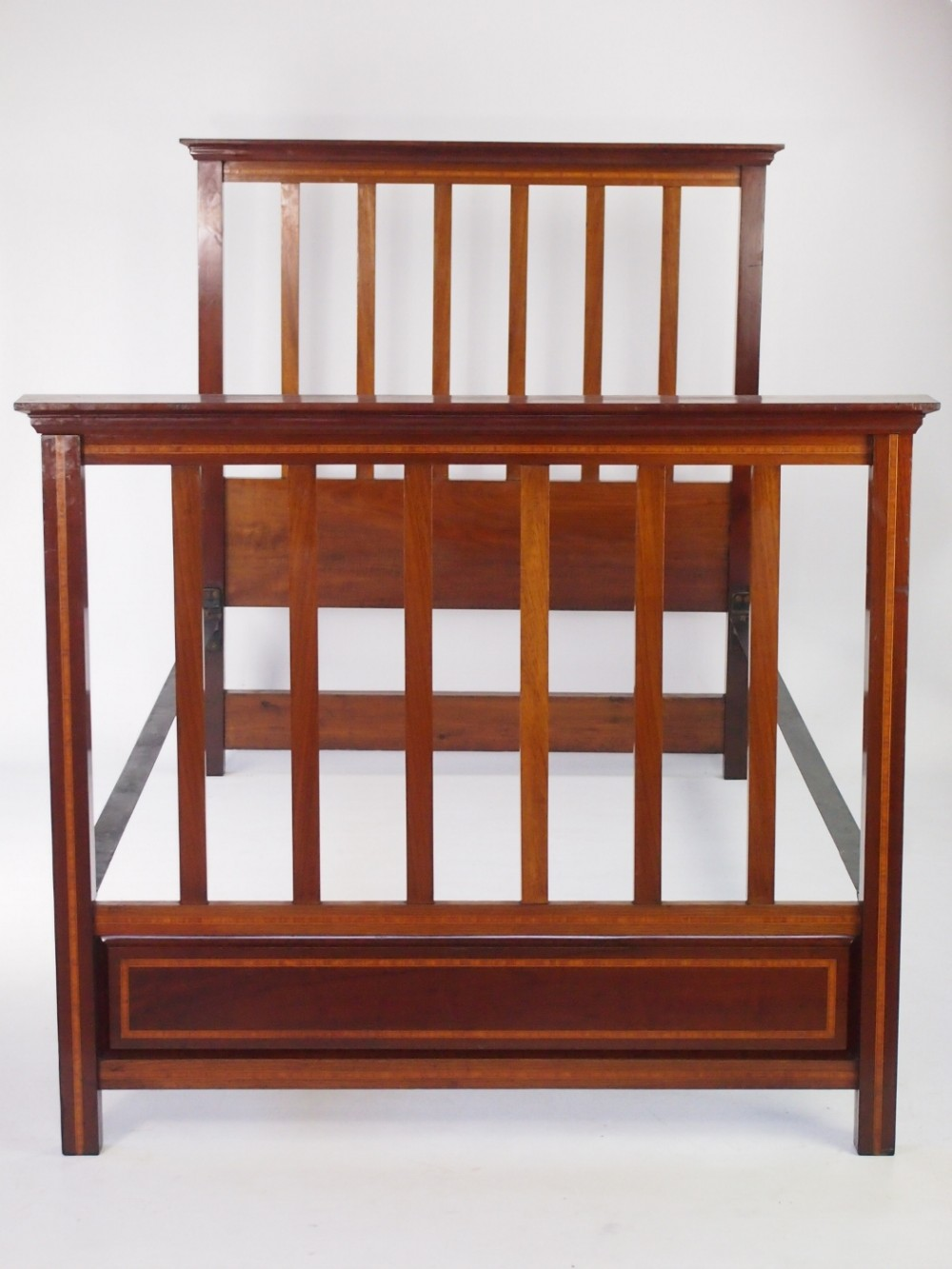 Edwardian Large Single Mahogany Bed 365908