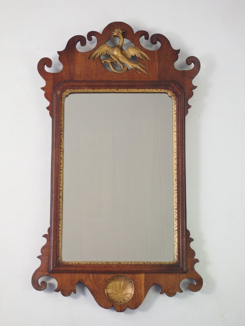 Antique Georgian Fretwork Wall Mirror 370536