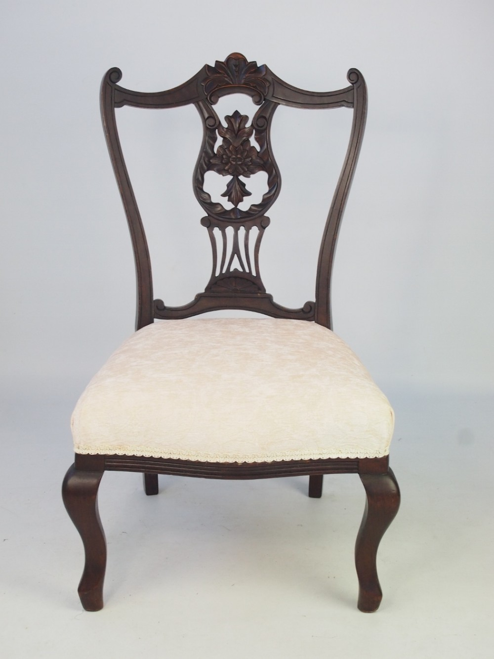 small antique edwardian dressing table chair - Small Antique Edwardian Dressing Table Chair 394748