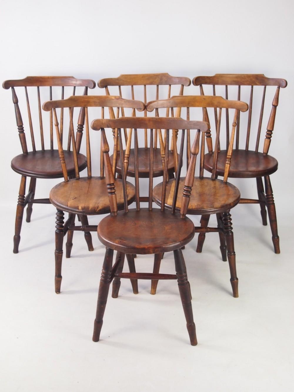 Harlequin Set 8 Victorian Kitchen Chairs  8