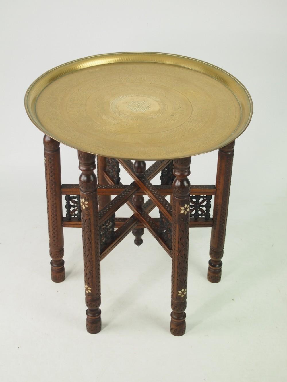 berber benares brass tray top coffee table 439555. Black Bedroom Furniture Sets. Home Design Ideas