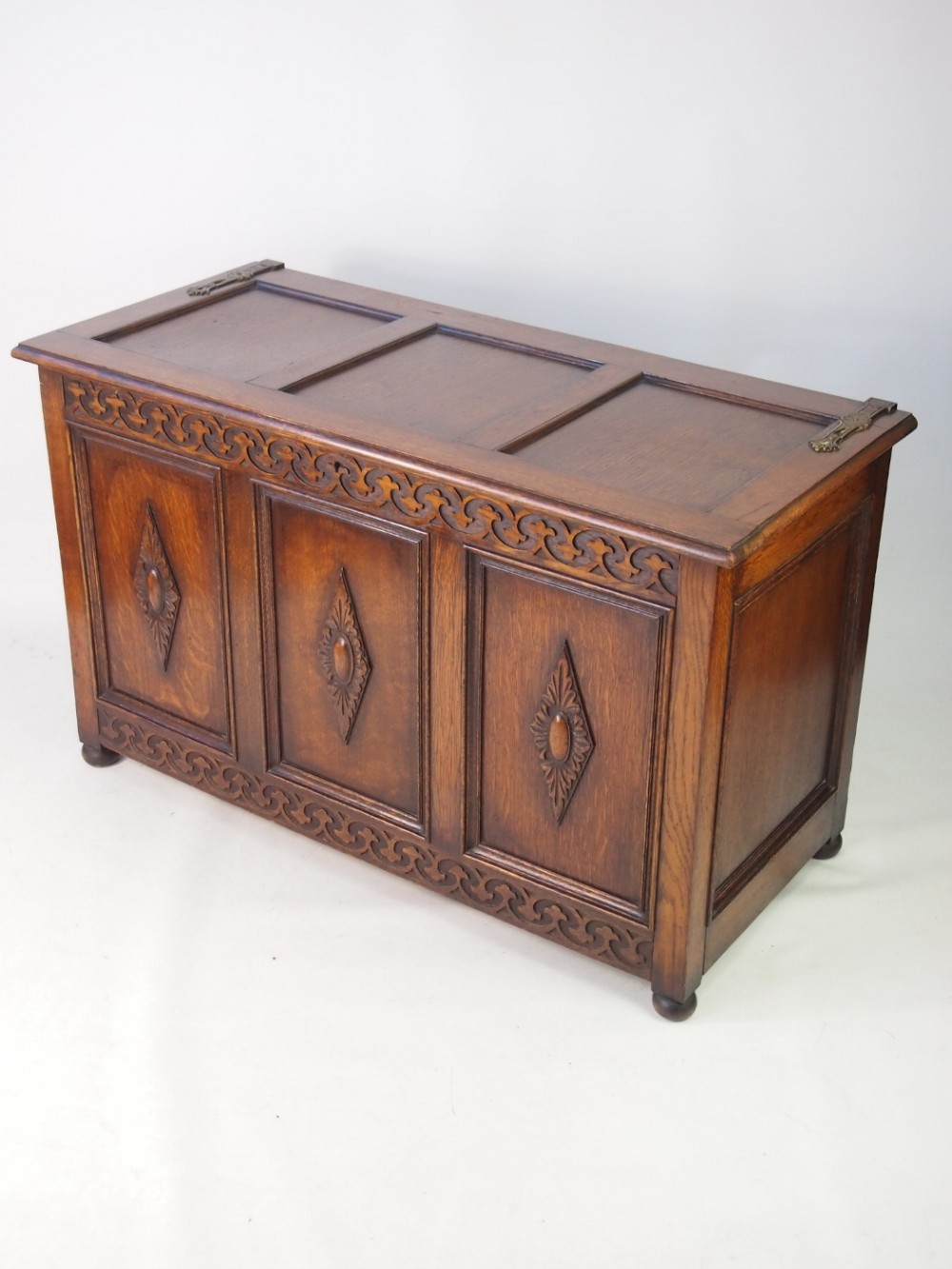 Edwardian Oak Blanket Chest Or Coffer 440427
