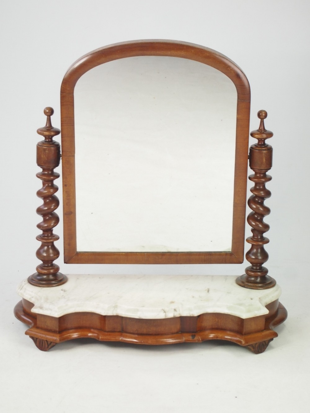 Victorian dressing table - Victorian Dressing Table Mirror With Marble Base