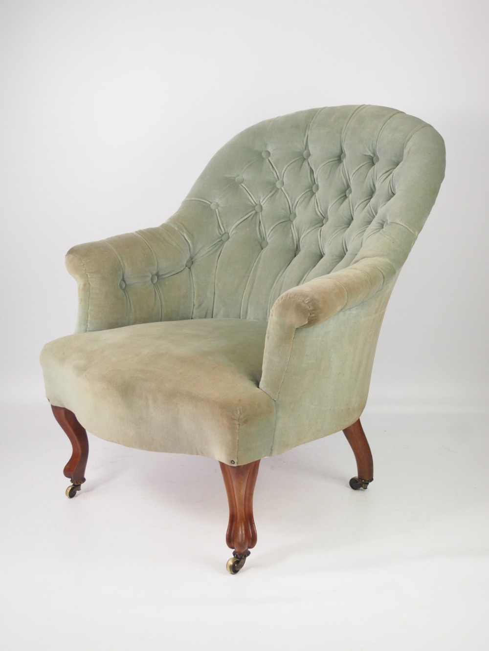 Victorian Button Back Armchair By John Taylor Sons