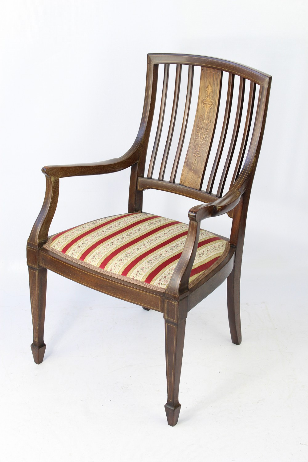 small victorian inlaid rosewood dressing table chair