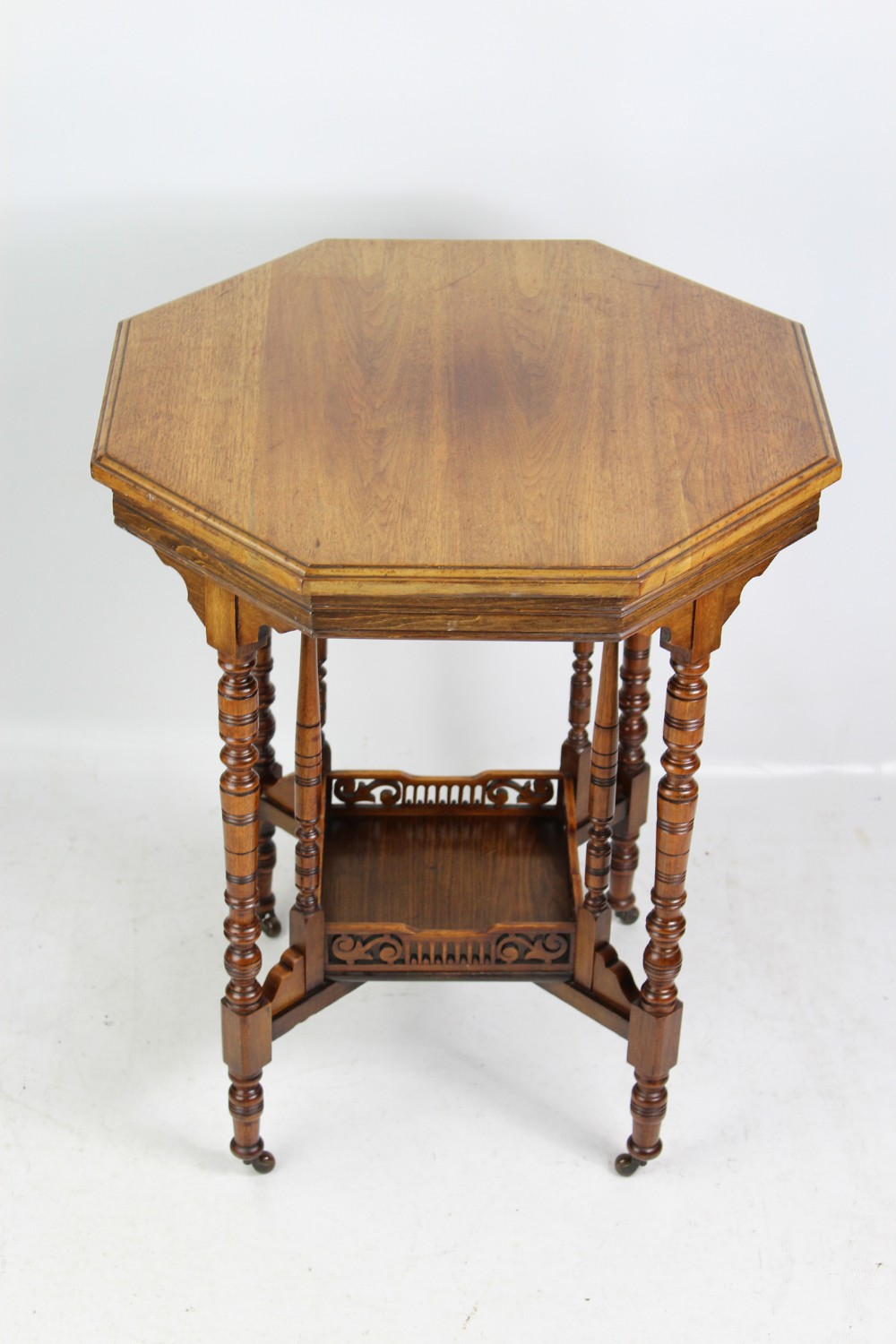 small victorian arts crafts side wine lamp table