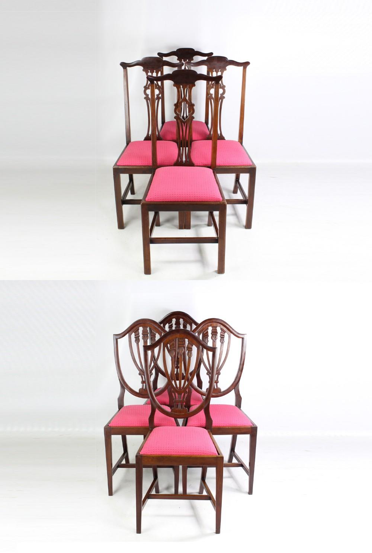 harlequin set of 8 edwardian mahogany dining chairs