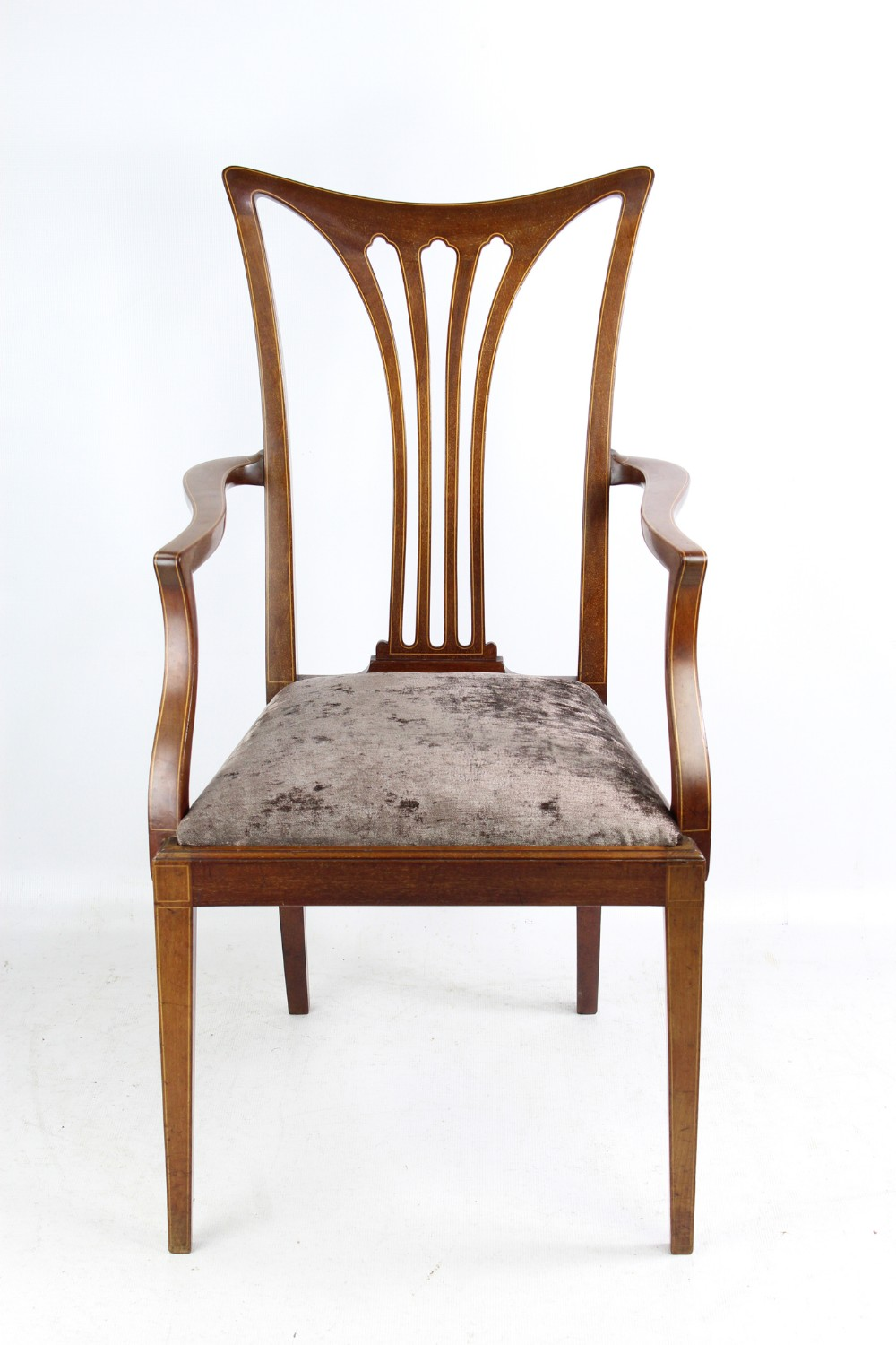 Awe Inspiring Edwardian Inlaid Mahogany Desk Chair Open Armchair 648934 Ncnpc Chair Design For Home Ncnpcorg