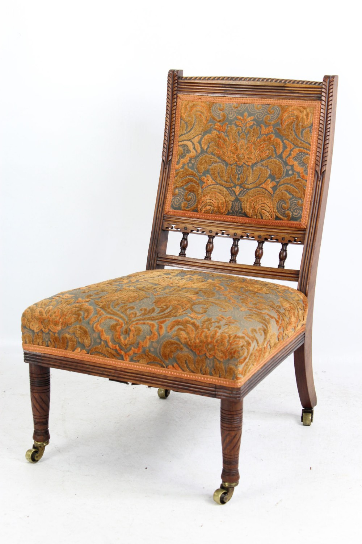 aesthetic movement rosewood nursing chair after bruce talbert