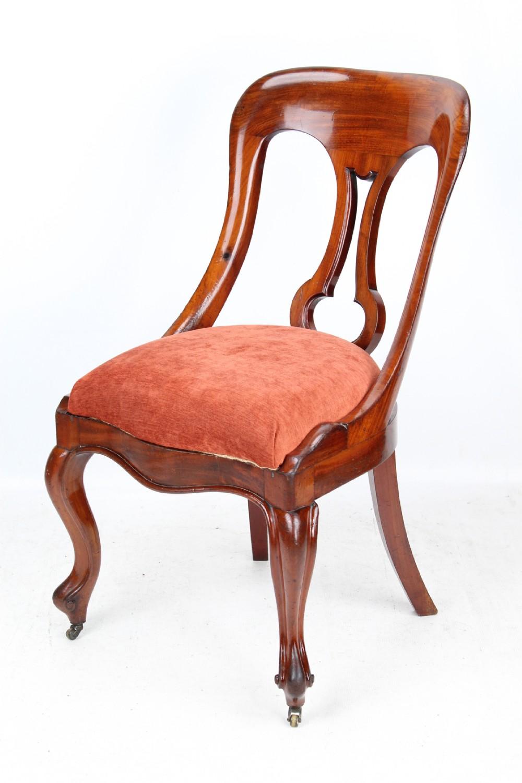 victorian mahogany bedroom balloon back slipper chair