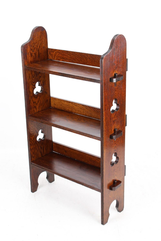 edwardian liberty co sedley oak open bookcase