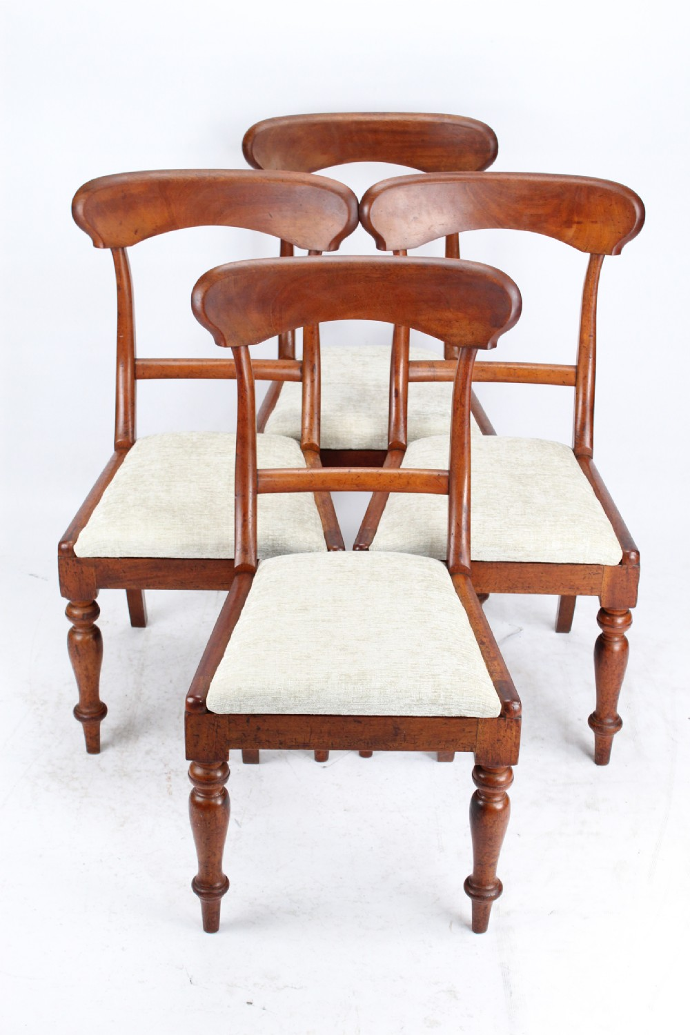 set 4 antique victorian mahogany dining chairs
