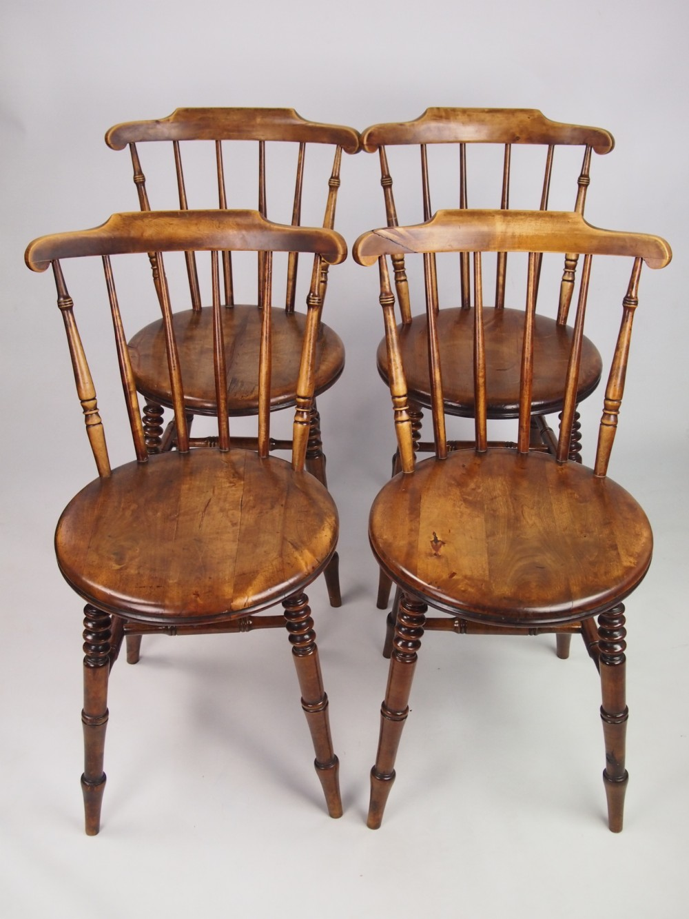 Set 4 antique pine kitchen chairs 267710 for Kitchen chairs