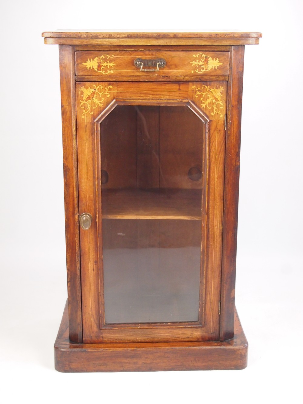 Old Bookcase Uk ~ Small antique victorian walnut pier cabinet bookcase