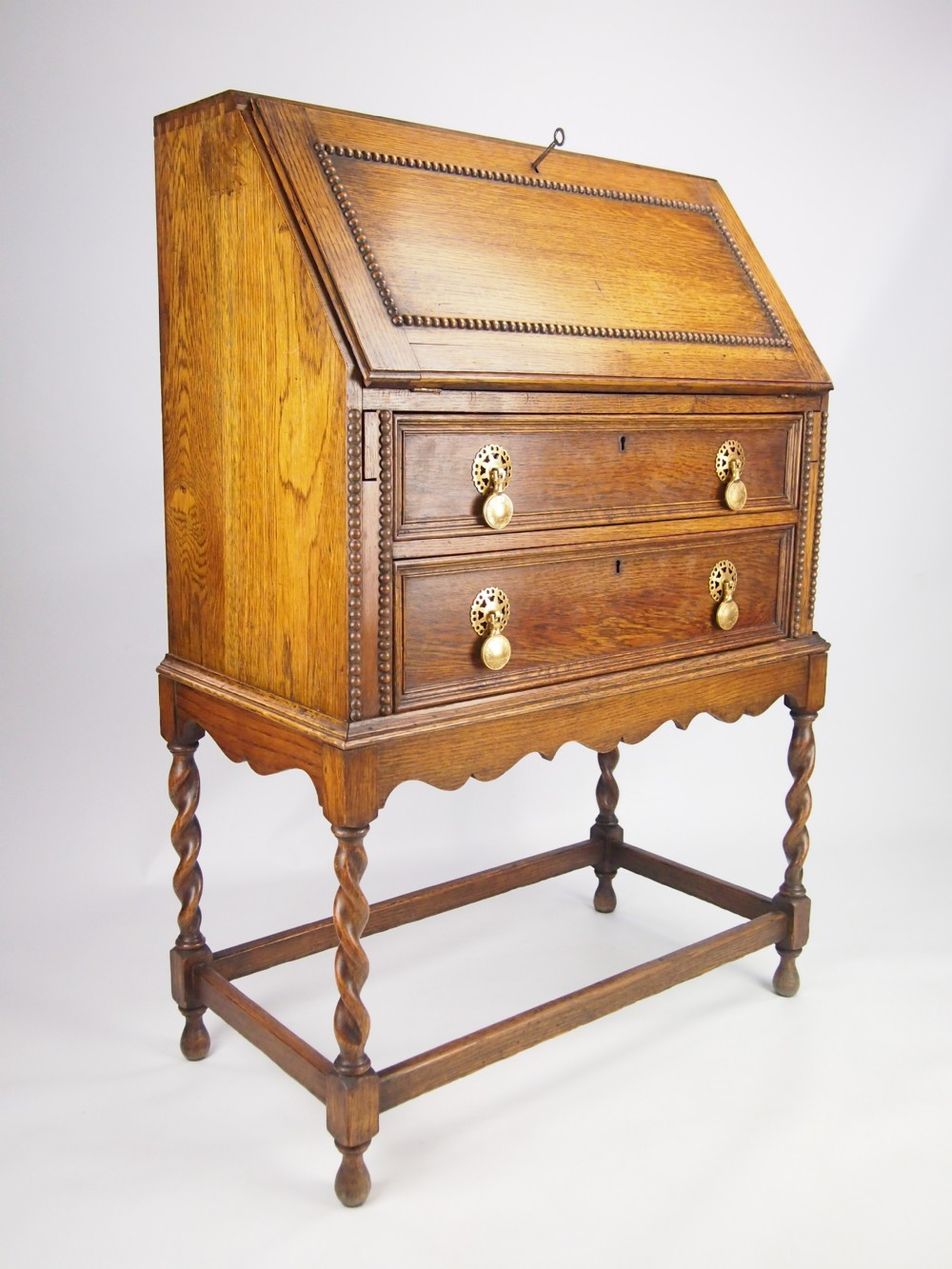 small oak writing desk