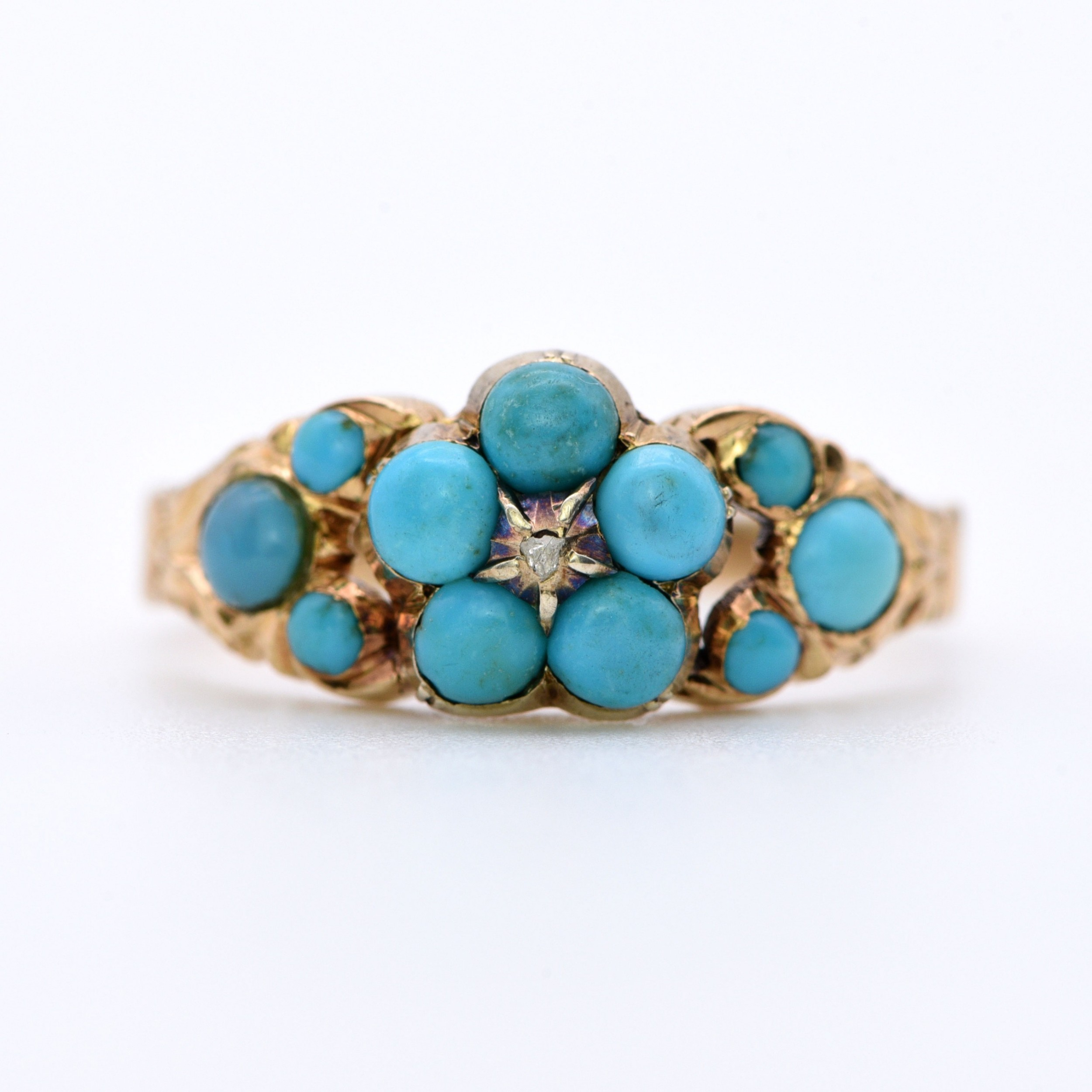 the antique victorian gold and turquoise forgetmenot ring