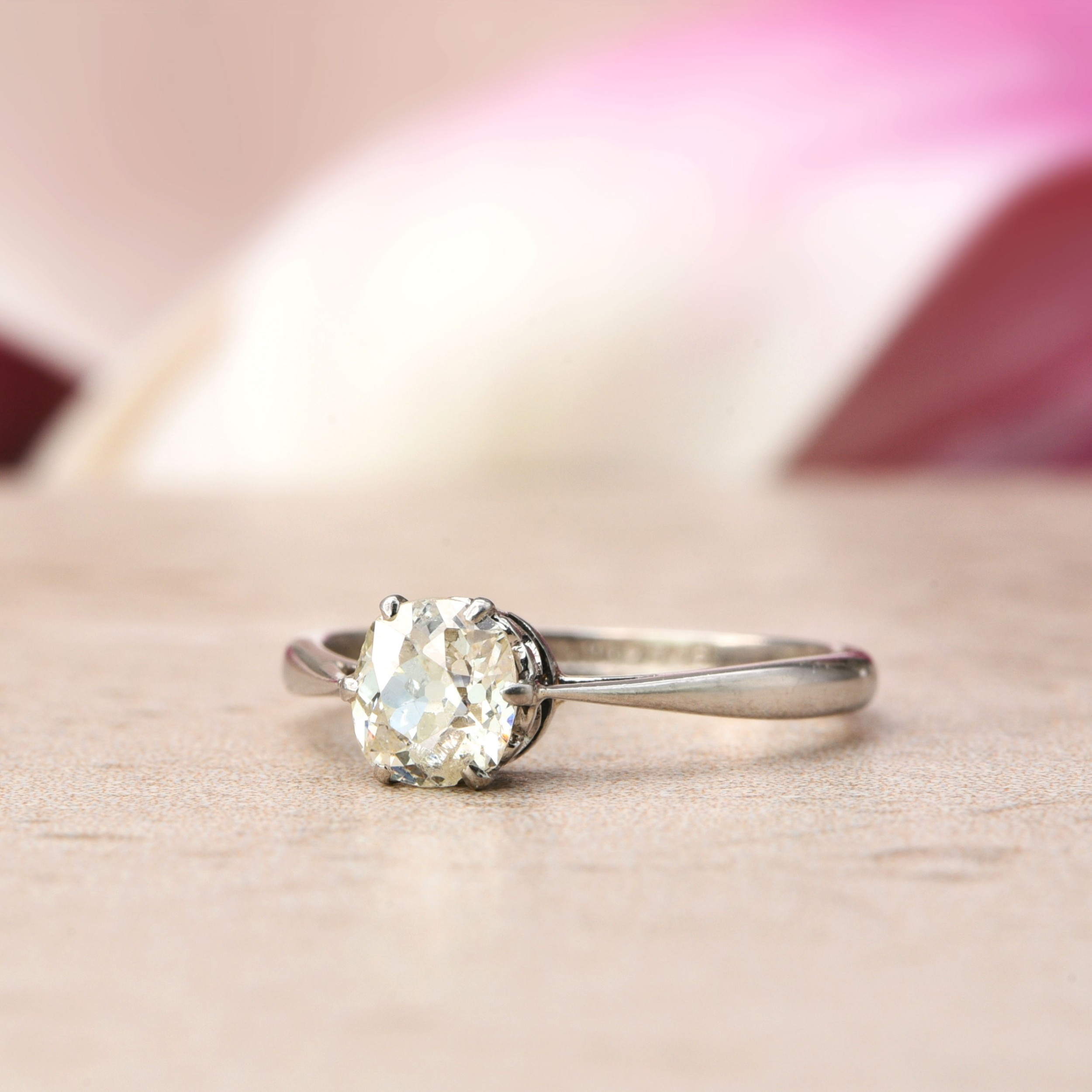 the antique heart gallery old cut diamond solitaire ring