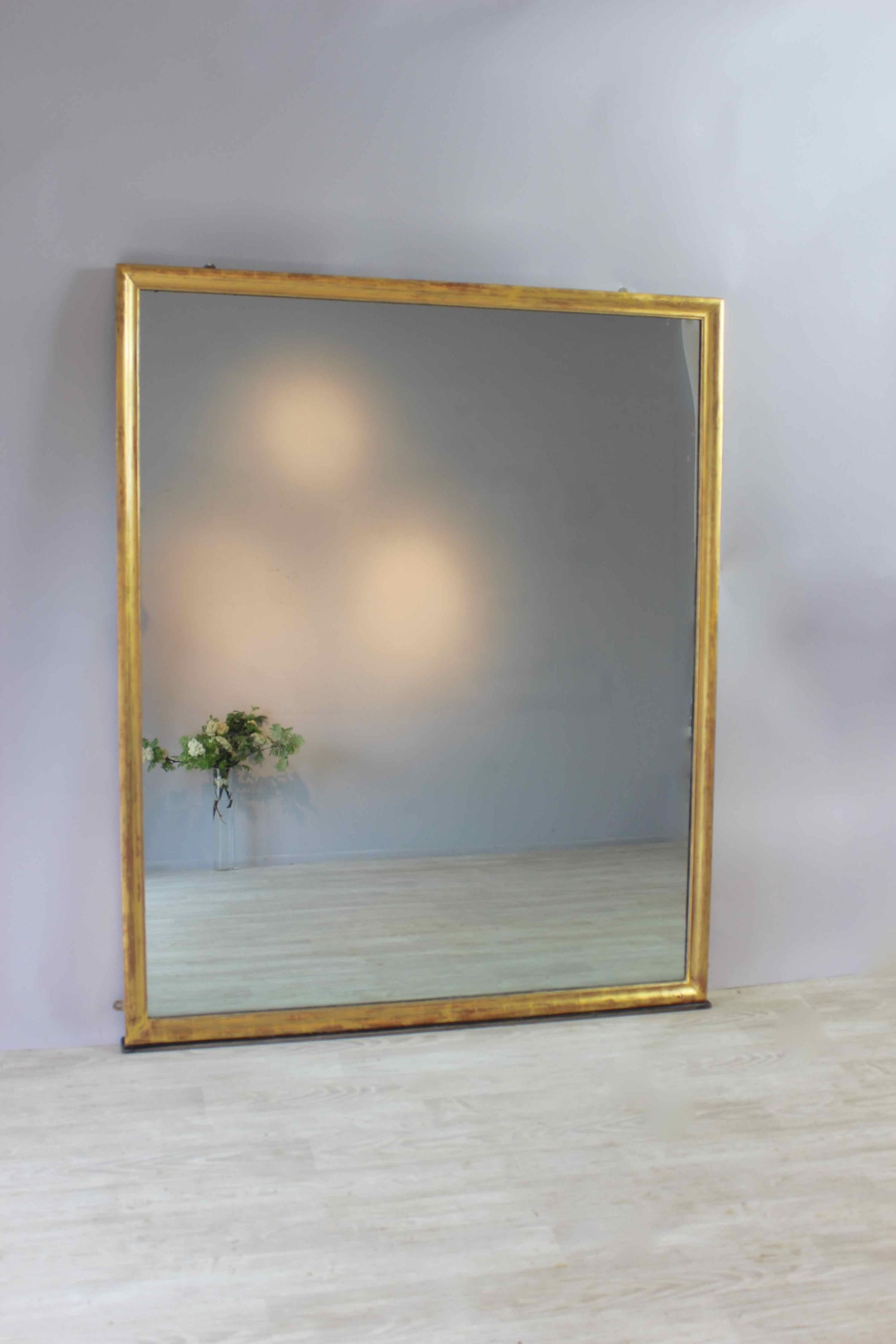 fabulous large elegant overmantel mirror
