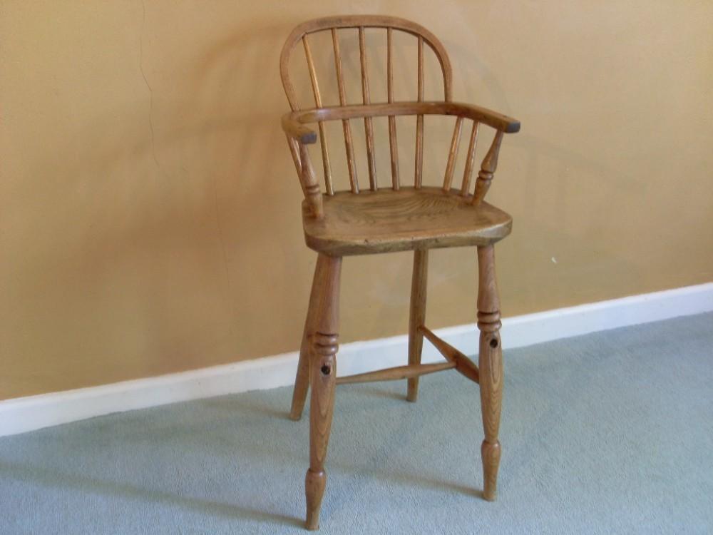 a 19thc childs windsor high chair 275460