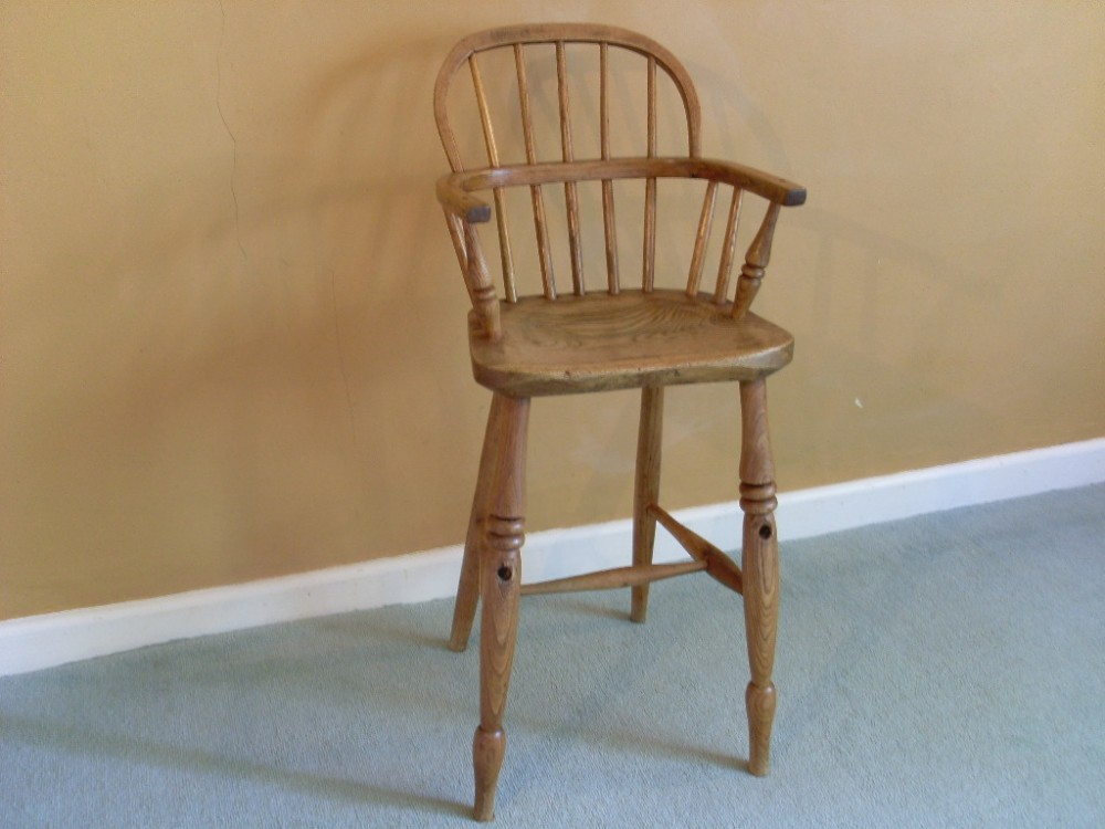 a 19thc childs windsor high chair - A 19thc Childs Windsor High Chair 275460 Sellingantiques.co.uk