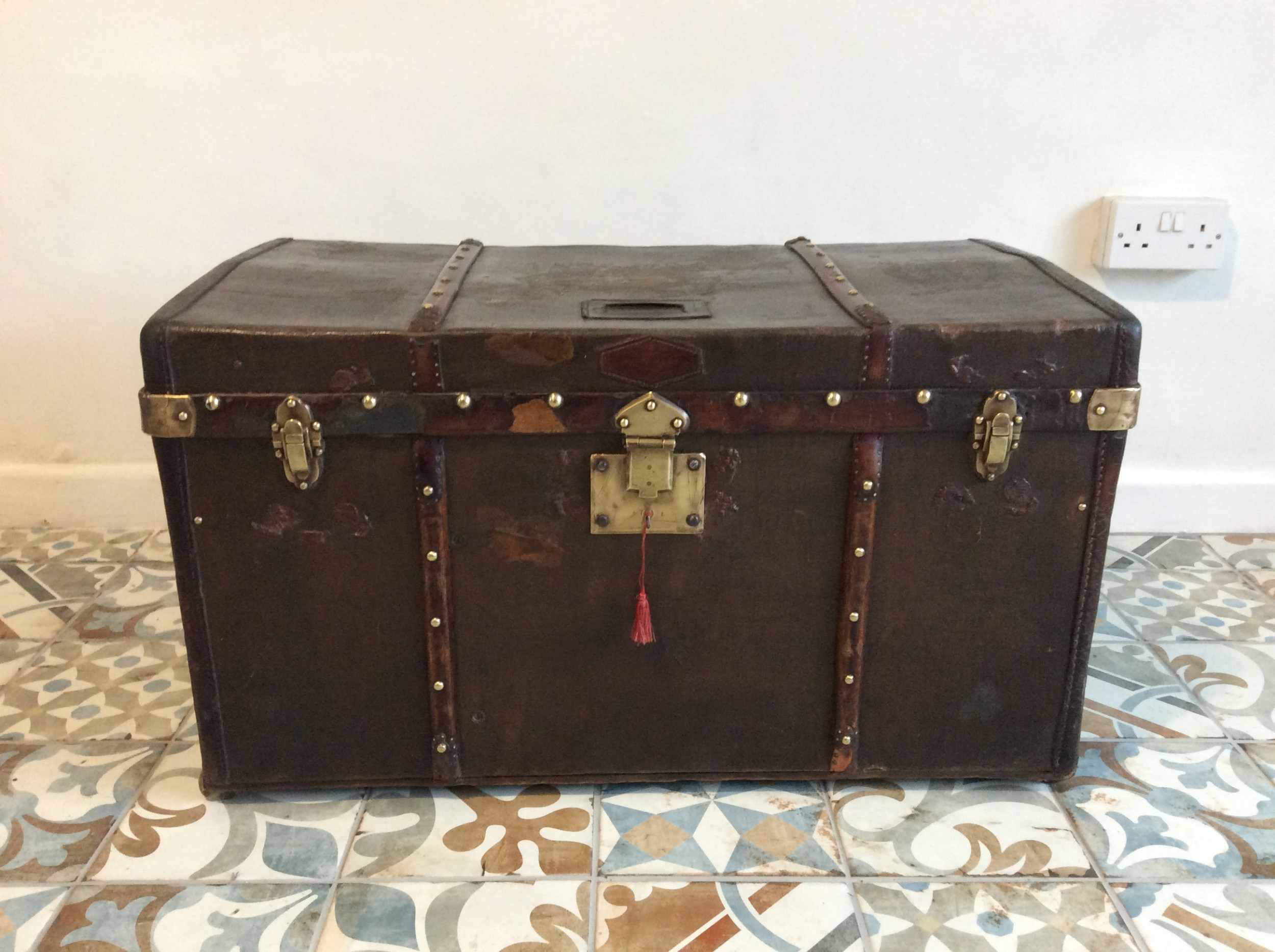 a late 19thc french travelling trunk
