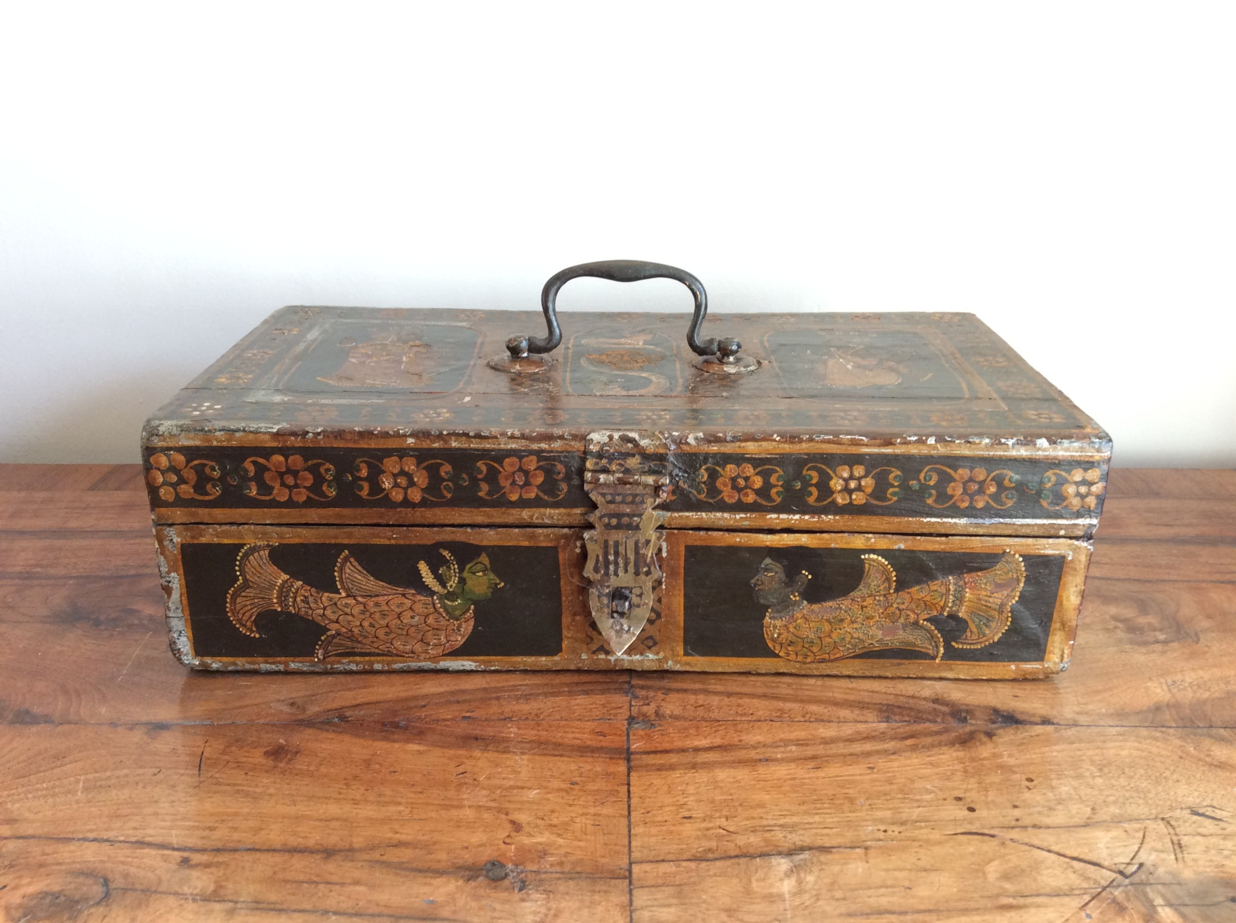 a 19thc northern indian marriage box